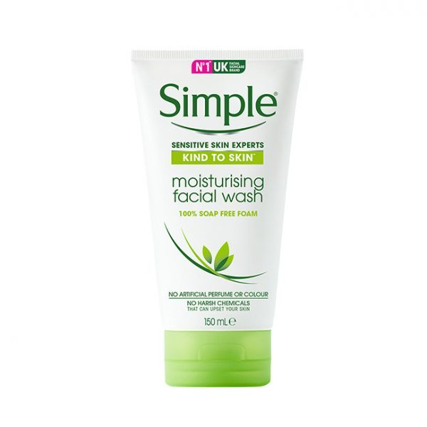 Sữa Rửa Mặt Simple Kind to Skin Moisturising Facial Wash (Da Khô)