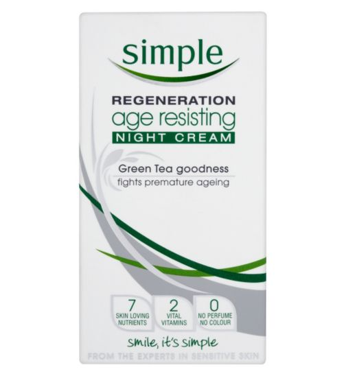 KEM NGỪA LÃO HÓA SIMPLE REGENERATION AGE RESISTING MOISTURISING NIGHT CREAM