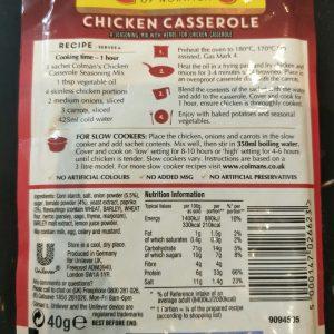 Colman's Chicken Casserole