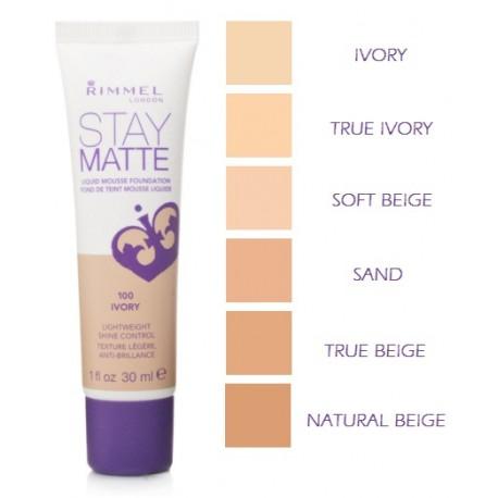 Kem Nền Rimmel Stay Matte Liquid Mousse Foundation (30ml)