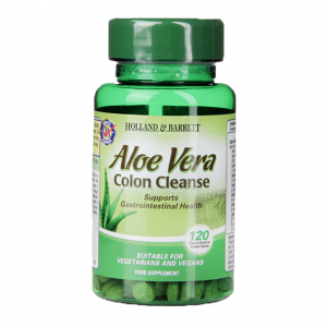 120 Viên Uống Thải Độc Holland & Barrett Aloe Vera Colon Cleanse 120 Tablets 330mg