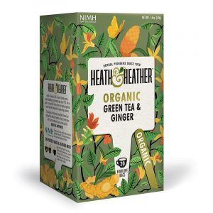 Heath & Heather Organic Green Tea With Ginger
