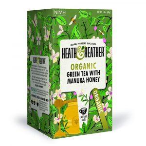 Heath & Heather Organic Green Tea With Manuka