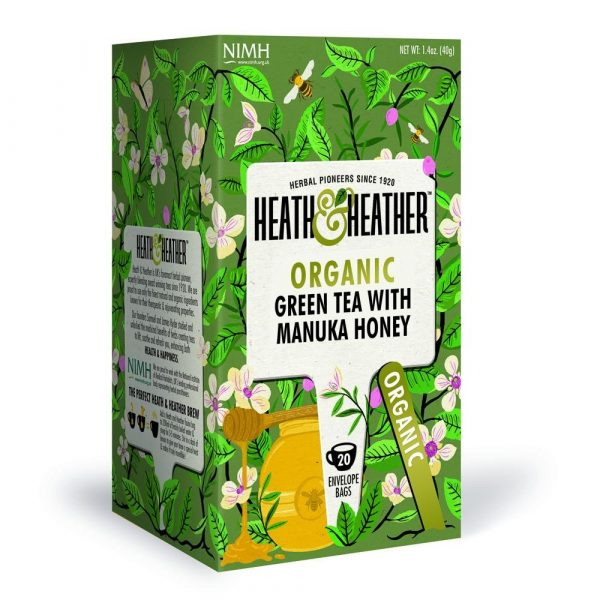Heath & Heather Organic Green Tea With Manuka