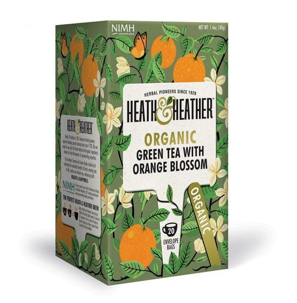 Heath & Heather Organic Green Tea with Orange Blossom