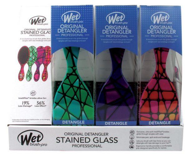 Wet Brush Pro Original Detangler Pink Stained Glass