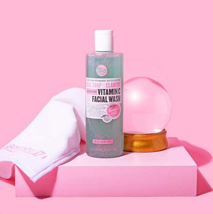Soap and Glory Face Soap and Clarity 3 in 1 Daily Vitamin C Facial Wash 350ml