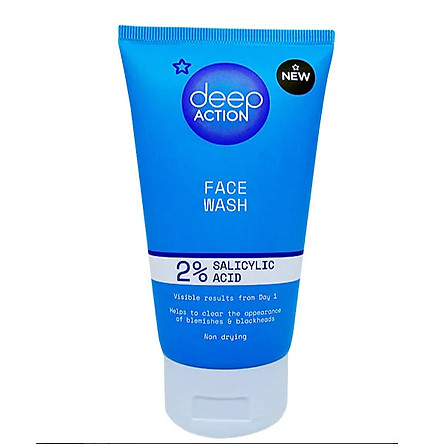Sữa Rửa Mặt Superdrug Deep Action 2% Salicylic Acid Face Wash 150ml
