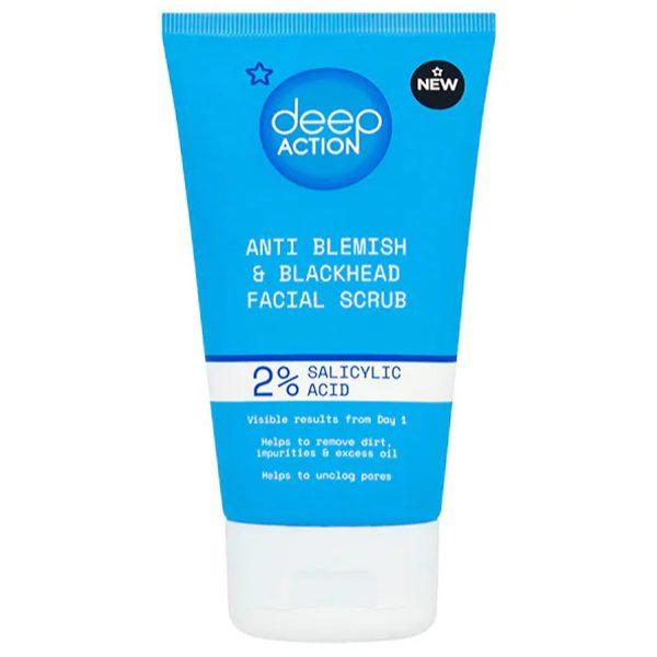 Superdrug Deep Action 2% Salicylic Acid Anti Blemish & Blackhead Facial Scrub