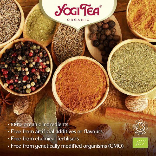 Trà Hữu Cơ Yogi Tea Organic Ginger Orange Tea With Vanilla 17 Tea Bags