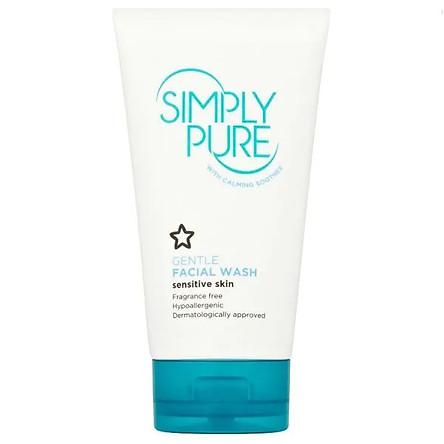 Sữa Rửa Mặt Cho Da Nhạy Cảm Superdrug Simply Pure Gentle Facial Wash 150ml